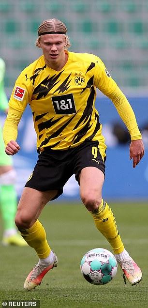 Borussia Dortmund striker Erling Haaland is a Chelsea transfer target