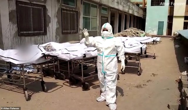 Video has revealed bodies piling up in a morgue in India as the country is battered by a second wave of Covid, amid warnings the country's death toll is a gross under-estimate