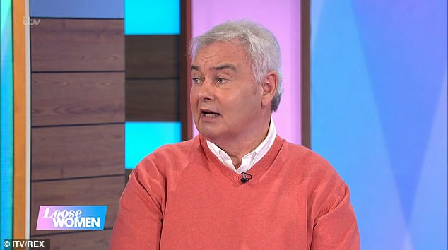 Hard: Eamonn Holmes has revealed that he slipped three discs in his back leaving him in so much pain that he couldn't sleep
