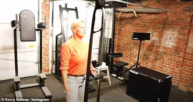 Impressive: She moved into the south England property which boasted a gym for Ryan who is a personal trainer