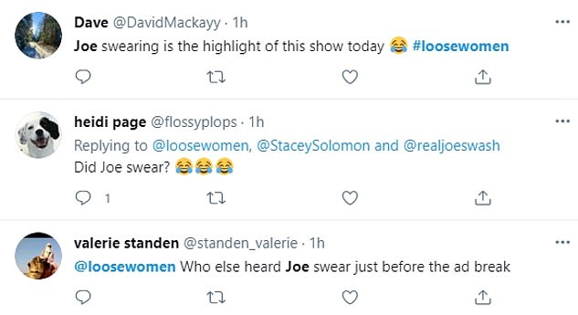 Blunder: Joe landed himself in hot water yet again after he swore live on air, thinking the show had already cut to a break