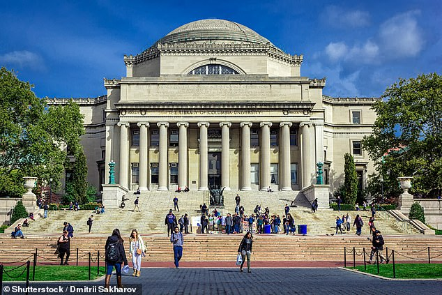 Some private universities - including Brown, Cornell and Stanford - have announced similar requirements, and will be joined by California's two state university systems, as well as several universities in New York, Massachusetts, Maryland and New Jersey. Pictured: New York's Columbia University is one the schools to require proof of vaccination from students this fall