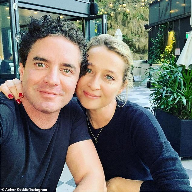 Loved up: In addition to an incredible professional life and career to date, Asher also has a full and successful family life. She is married to artist Vincent Fantauzzo