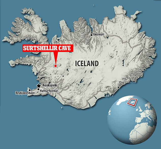 Surtshellir Cave es una cueva de lava en el oeste de Islandia situada a unas 35 millas de Borgames.