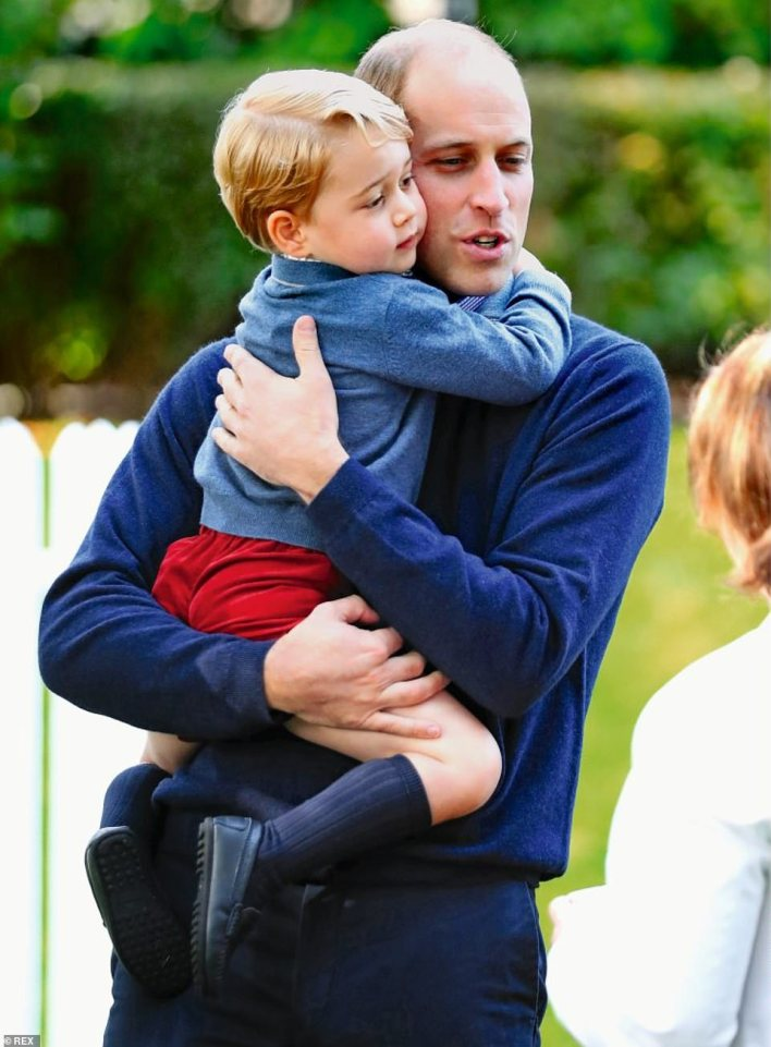 William has remained a doting father and even appeared to coordinate his outfit with George at a children's party for military families in Canada, in 2016