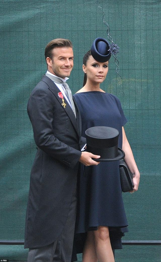 The Beckhams attending the Royal Wedding of Prince William and Kate Middleton in April 2011