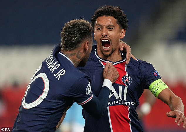 All that came after defender Marquinhos had given the hosts a first-half lead in Paris