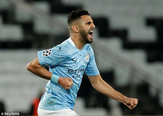 Mahrez scored a free-kick that gave Manchester City a 2-1 advantage going into the second leg