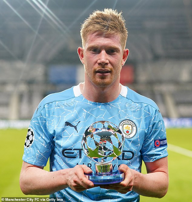 De Bruyne was awarded Man of the Match for his performance after scoring his side's opener