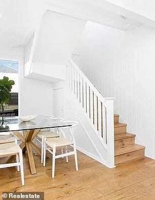 After: PPD Real Estate agent Zach Carter said Kate Lawrence, an interior designer and partner of Swans co-captain Luke Parker, was involved in the latest renovation