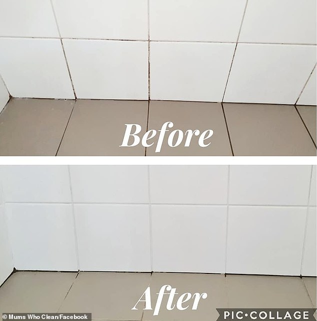 'I was seriously at wits end and ready to re-tile and re-grout with an epoxy! I had tried everything else everyone has ever recommended before and nothing was ridding the stains,' she said