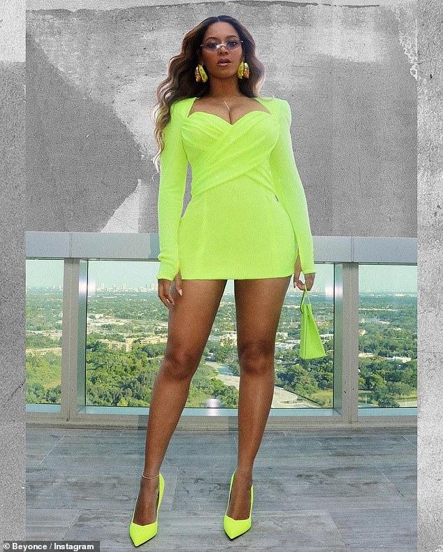 Duelo: Beyonce sacó todas las paradas cuando apareció en Instagram en conjuntos de duelo el miércoles por la tarde.