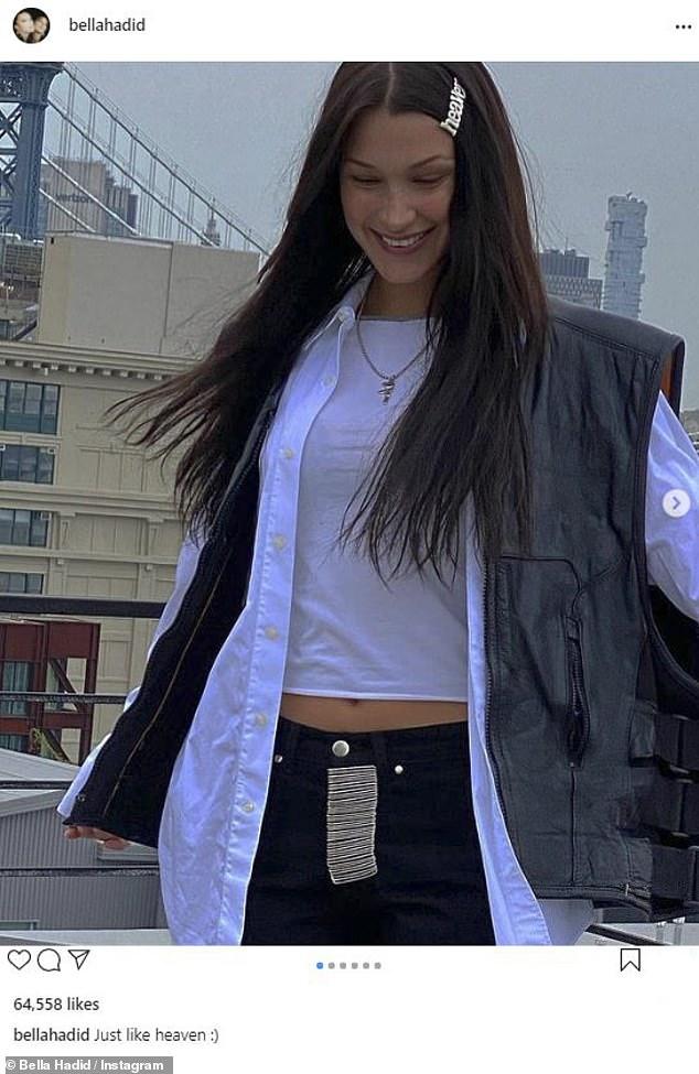 Edgy: Bella Hadid mostró su estilo urbano vanguardista en una serie de instantáneas estilísticas compartidas en Instagram el miércoles.