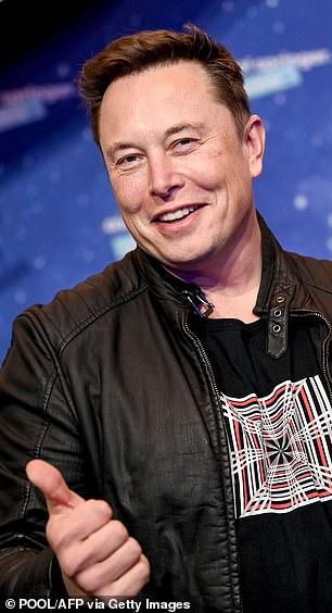 Musk was snapped in Berlin last year