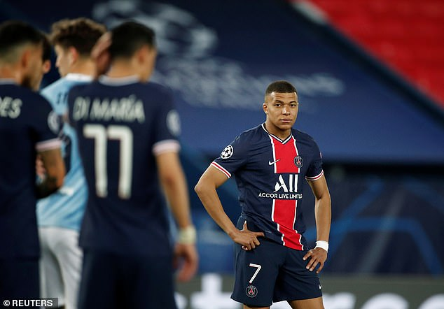 Kylian Mbappe endured a torrid evening in the Champions League on Wednesday night