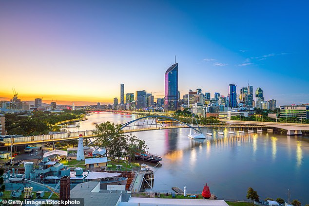 New analysis shows that in Brisbane City (pictured) buyers of two bedroom units are $1162 a month better off compared renters, based on a 10-year cost analysis