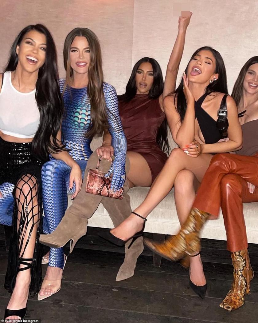 Denied:The reality titans - comprising Kim, Khloe, and Kourtney as well as mother Kris Jenner and Kylie and Kendall Jenner - have always denied having plastic surgeries