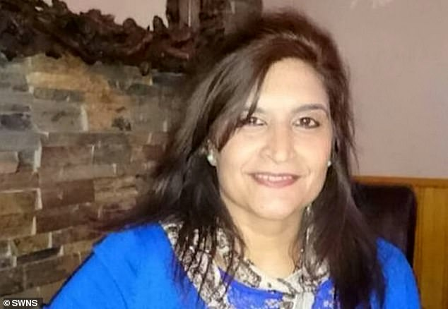 Jasbinder Gahir, 58, beat his ex-wife Balvinder Gahir (picured) with a metal bar at her home in Lillington, Leamington Spa after she refused to move out