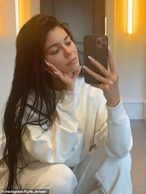 Natural: Kylie looked radiant in make-up free snaps shared to her Instagram