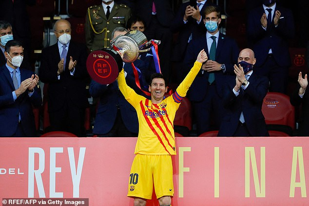 Messi lifted Copa del Rey trophy just a matter of weeks ago as Barcelona beat Athletic Bilbao