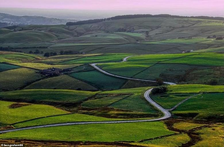 The A537 road between Buxton and Macclesfield came joint tenth in the poll. This picture of it was taken by Instagrammerben.graham88