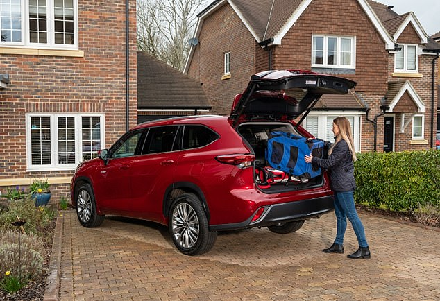 The big but nimble Toyota Highlander, available as a seven-seater, petrol-electric hybrid costs £50,610 to £52,590 (on-the-road-price)