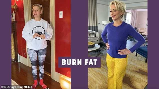 Trimming the fat: Re-posting the commercial to her Instagram she said that on top of 'looking good' she was 'feeling GREAT'