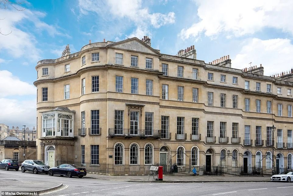 Royal connections: The building at 93 Sydney Place was where King George III's wife, Charlotte, stayed when she spent time in Bath in 1817