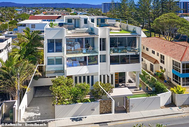 Palatial: The 40-year-old purchased the $1.5millon back in 2014 under his company, Hackett Group, and is set to go under the hammer on May 30
