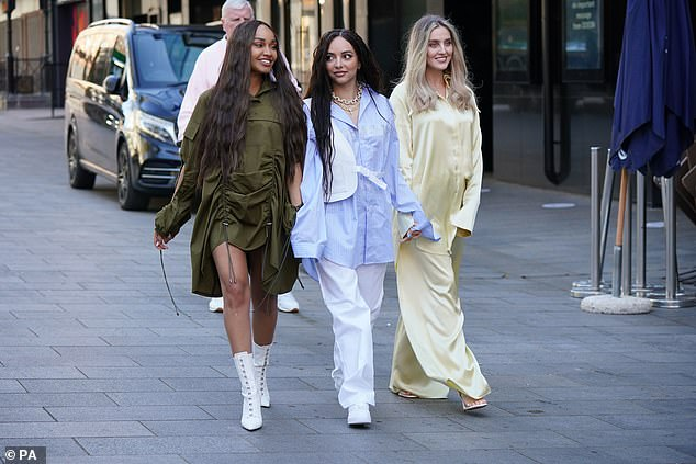 Style: The three singers showcased their different fashion senses with their striking looks