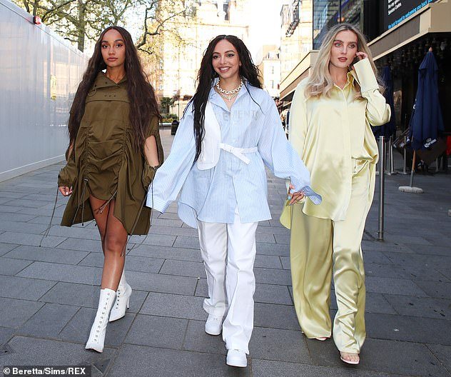 Big day! Little Mix have revealed they are yet to listen to bandmate Jesy Nelson's new music, as they kicked off promotions as a trio for their new single on Friday