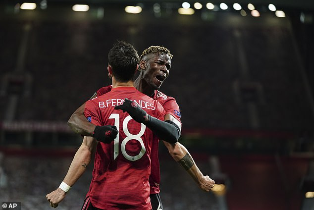 Paul Pogba was on fire as Manchester United crushed Roma in the Europa League semi-final