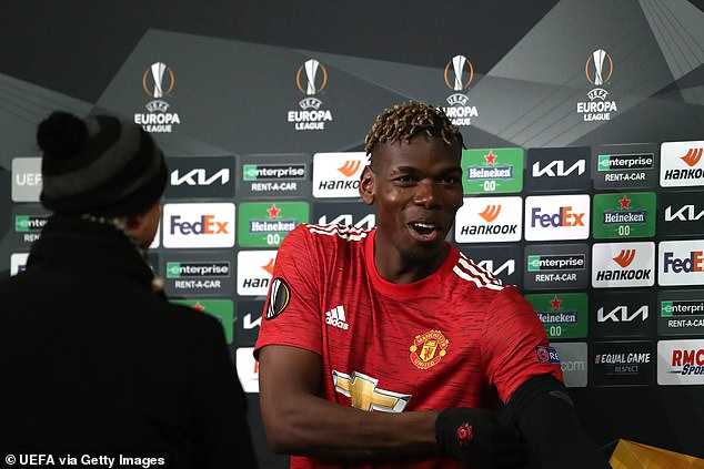 The Frenchman quickly ate post-match before emerging for interviews with plenty of energy