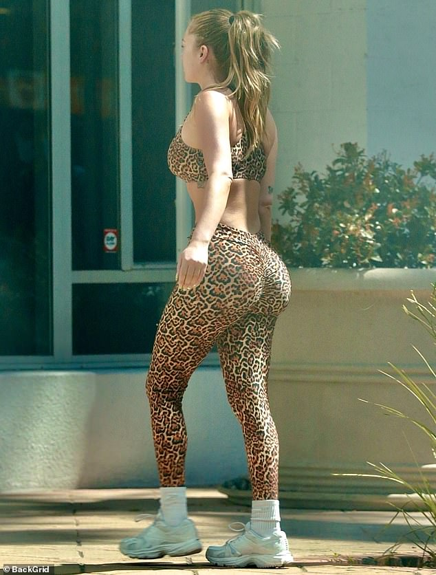 Kicking curves:And the once rumored love interest of actor Noah Centineo showed off her enhanced derriere — which has long been the subject of plastic surgery rumors — as she ran some errands afterwards