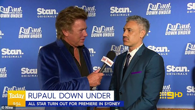 'It might be the best Marvel film ever!' Thor directorTaika Waititi (right) gave fans an update on the next film in the franchise during an interview earlier this month. Pictured left: Nine entertainment reporter Richard Wilkins