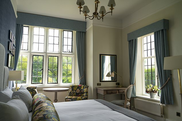 One of the 'richly dressed' rooms - perfect for a cosy weekend for two
