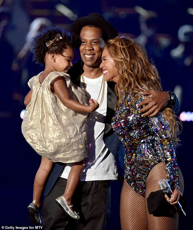 Growing family: They secretly married in 2008 and welcomed their first child - daughter Blue Ivy Carter (pictured) - in 2012. Beyoncé and Jay-Z welcomed twins in 2017 - a daughter named Rumi and a son named Sir