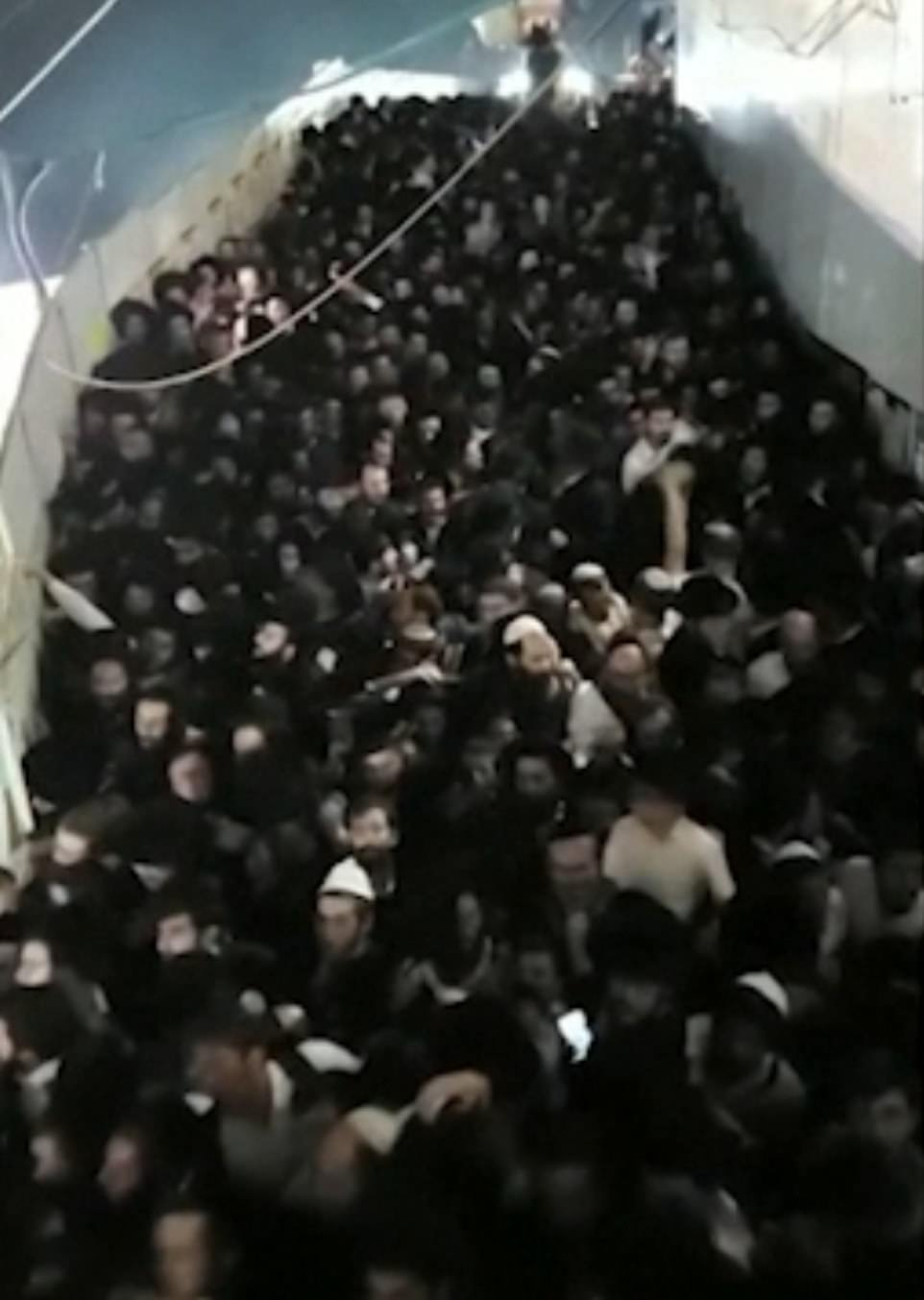This is thought to be the area where the crush began when people slipped and fell on a stairway before others piled on top of them due to the sheer weight of numbers, meaning they were unable to get up