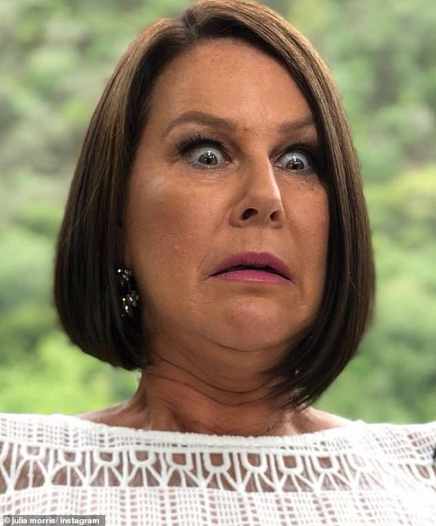 Don't you know who I am?! Julia Morris, 53, (pictured) has satirically described the moment she suffered a diva meltdown in 2016 after a chef refused to serve her fried eggs at a trendy Byron Bay café
