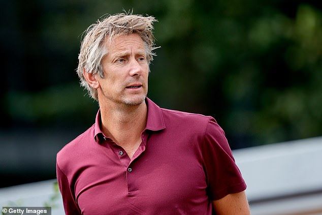 Edwin van der Sar (above) has confirmed his interest in the future Manchester United role