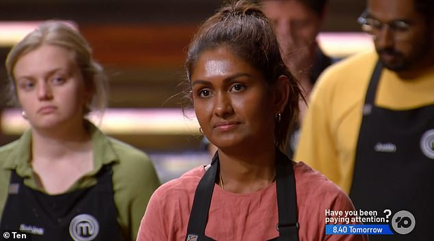 Out: During Sunday's episode of MasterChef, Minoli Desilva became the fourth contestant to be sent home