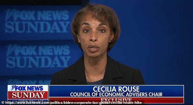 Council of Economic Advisers chair Cecilia Rouse told 'Fox News Sunday' that Biden's administration is pushing a 'global minimum tax' for corporations to keep the U.S. competitive