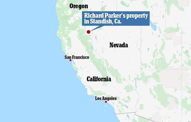 Officials from California's Department ofof Fish and Wildlife made the shocking discovery at Parker's property in Standish, Norther California