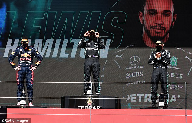 Verstappen (left) was less-than-impressed as he wished F1 doesn't return back to the circuit