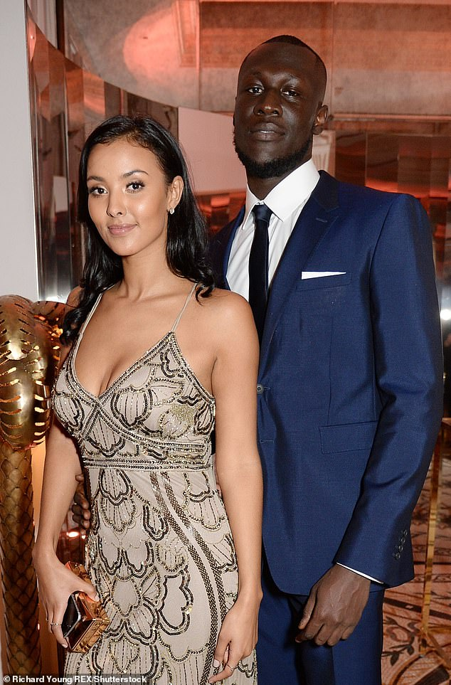 Former Flame: Maya and Stormzy first went public with their romance in 2016 after initially keeping their relationship private.  They broke up in 2019 (photo from 2017)