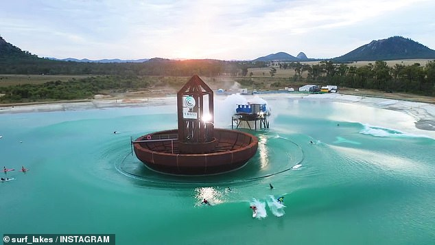 The eye-popping surf park is expected to support 229 full-time jobs and bring $17.4million to the local economy and bring $17.4million of ongoing benefits to the local community