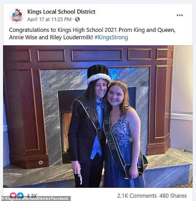 A photo posted on the Kings Local School District Facebook page received 2100 comments - despite the school struggling to keep up with deleting the negative ones