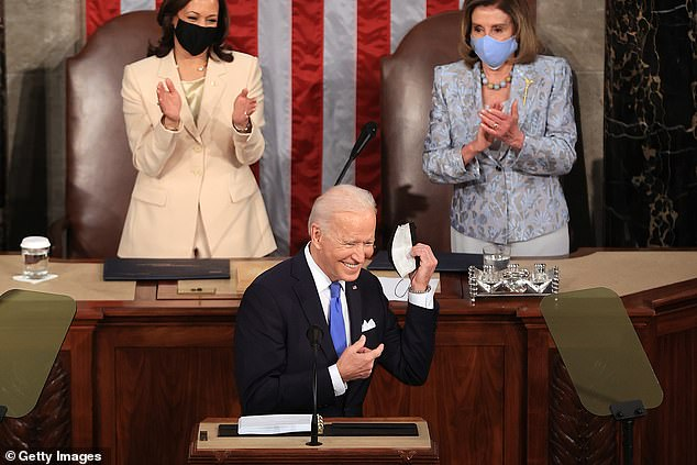 Weiss also slammed President Joe Biden's joint address to Congress last week as 'hygiene-theater' for the mandatory masks and elaborate social distancing protocols