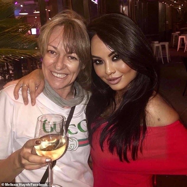 Amanda Brown andMelissa Huynh in happier times. Ms Brown died suddenly on Saturday aged just 50