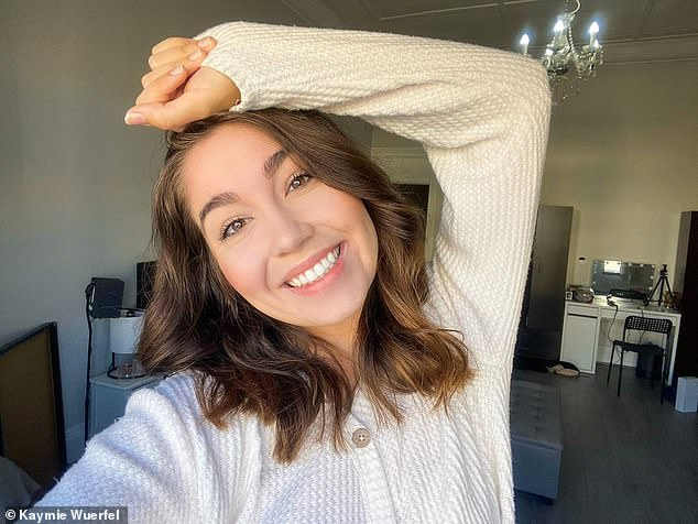 American expat Kaymie Wuerfel (pictured) living in Australia has revealed the biggest cultural shocks she discovered- including using the C-word to greet people, free healthcare, chicken salt and being charged 15 cents for a grocery bag